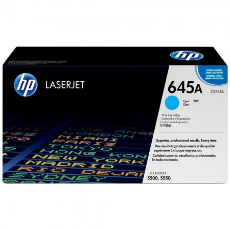 TONER HP N° 645A CYAN 12000 PAGES