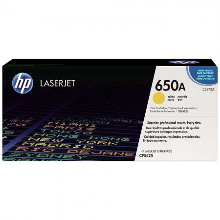 TONER HP N° 650A JAUNE CP5520 15000 PAGES