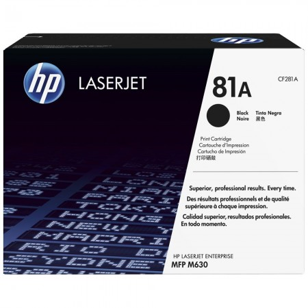 TONER HP N° 81A BLACK 10500 PAGES
