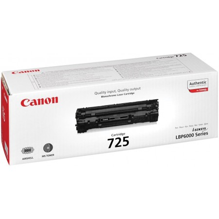 TONER CANON N° 725 BLACK 1600 PAGES