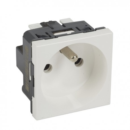 SOCKET 2P + E MOSAIC 2M WHITE STD F / B