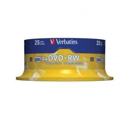 DVD+RW 4,7 Go VERBATIM 4x, SANS ETUI