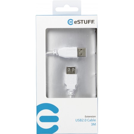 RALLONGE USB2.0 BLANC MALE/FEMELLE