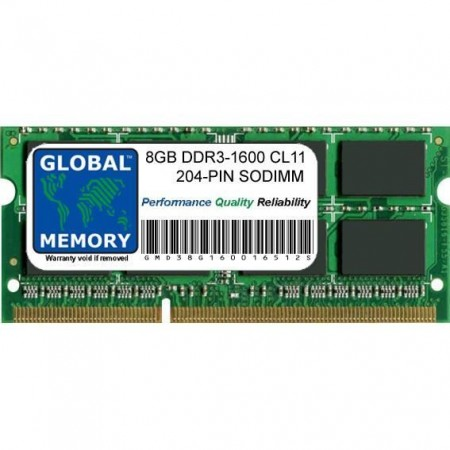 MEMOIRE 8Go DDR3 PC3-12800 1600Mhz SODIMM