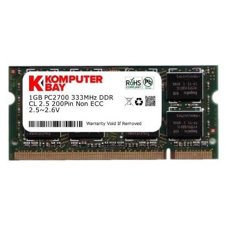 MEMORY 1GB DDR PC2700 SODIMM