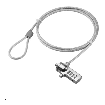 SECURITY CABLE WITH CODE FOR LAPTOP
