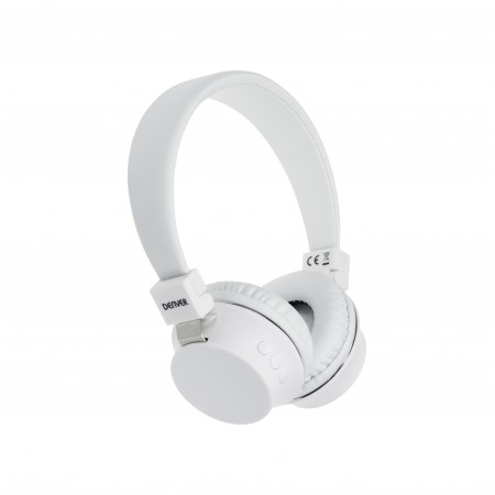 WHITE DENVER MICRO BLUETOOTH HEADPHONES