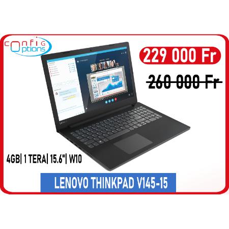 LENOVO THINKPAD V145-15 AMD A4-9125 15.6 '' 4Gb / 1To W10H - Black