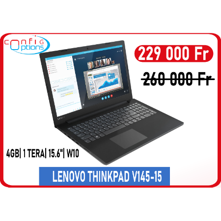 LENOVO THINKPAD V145-15 AMD A4-9125 15.6'' 4Gb/1To W10H - Black