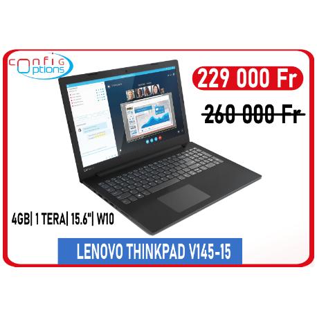 LENOVO THINKPAD V145-15 AMD A4-9125 15.6'' 4Gb/1To W10H - Black