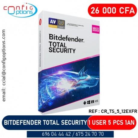 BITDEFENDER TOTAL SECURITY 1 USER 5 PCS 1 YEAR