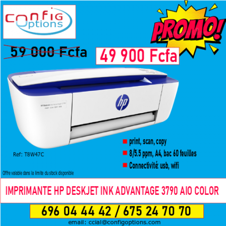 IMPRIMANTE HP DESKJET INK ADVANTAGE 3790 AIO COLOR
