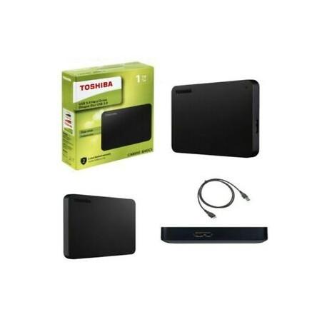 TOSHIBA CANVIO 2.5 BLACK 1TB USB EXTERNAL HARD DRIVE