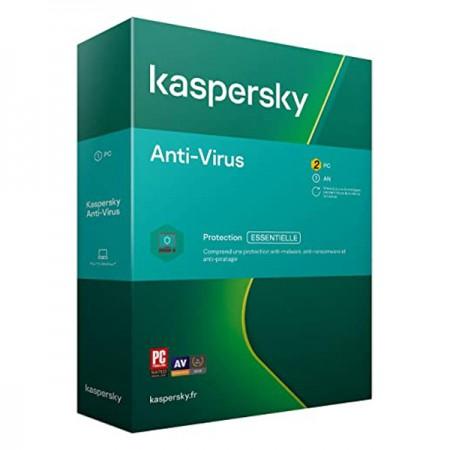 KASPERSKY ANTIVIRUS 2 POSTES 1AN PROTECTION ESSENTIELLE