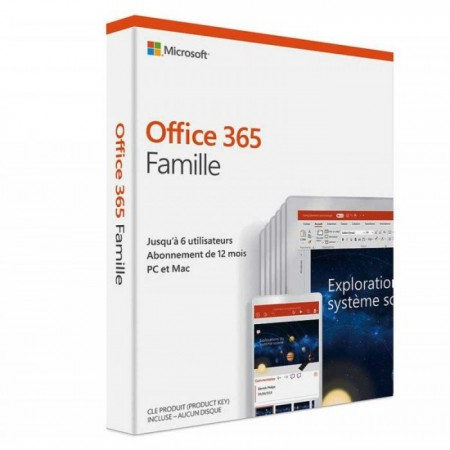 MICROSOFT OFFICE 365 FAMILLE 6 POSTES 1AN