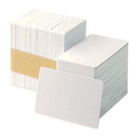 CARTE EN PVC ZEBRA PREMIUM CARD 30mil , BLANC , PK500  /  1 CARTE