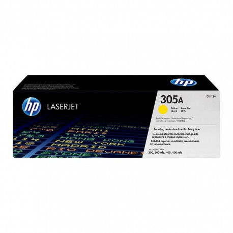 TONER HP N° 305A LASERJET PRO 300 / 400  YELLOW COLOR 2600 pages