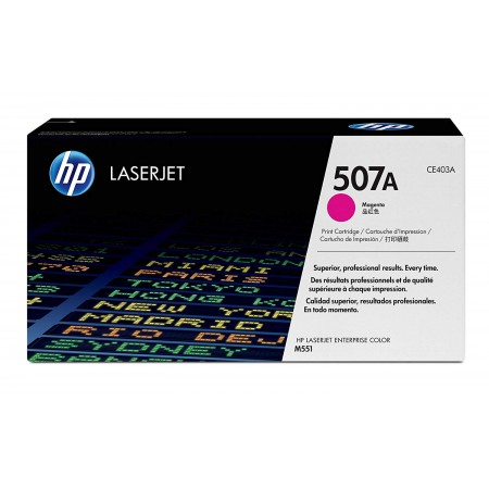 TONER HP N° 507A LASERJET PRO  500/M575DN/M551DN  MAGENTA COLOR 6000 pages