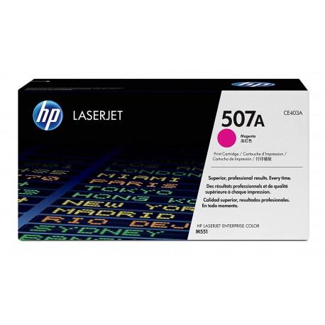 TONER HP N° 507A LASERJET PRO  500/M575DN/M551DN  MAGENTA COLOR 6000 pages