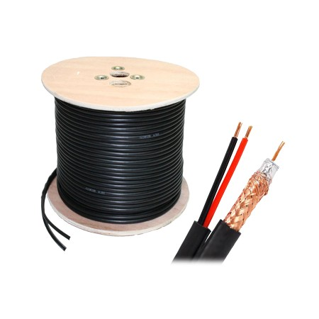 CABLE COAXIAL RG59 + ALIMENTATION