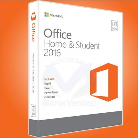 MICROSOFT OFFICE 2016 HOME AND STUDENT 1 PC UNIQUEMENT
