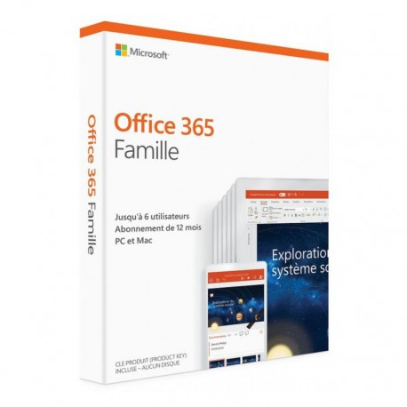 MICROSOFT OFFICE 365 HOME FOR AFRICA 6 USERS PC /MAC  1AN