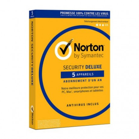 NORTON SECURITY AFRIQUE DELUXE 1 USER 5 DIVICES 1AN