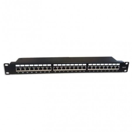 "BREW PANEL 19 ""24 PORTS FTP CAT6 MICROCONNECT"