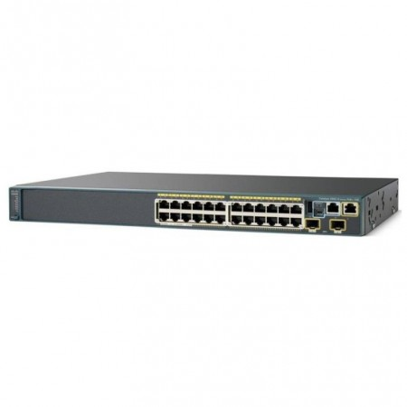 SWITCH  CISCO  WS-C2960S-24TSL CATALYST 24PORTS Gigabits + 4 PORTS SFP  LAN BASE