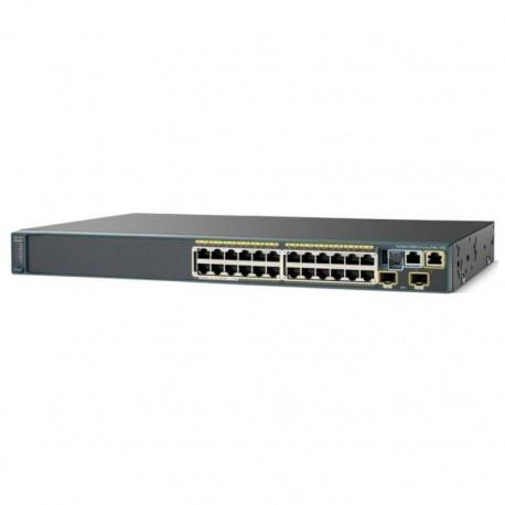 SWITCH  CISCO  WS-C2960S-24TSL CATALYST 24PORTS Gigabits + 4 PORTS SFP  LAN BASE
