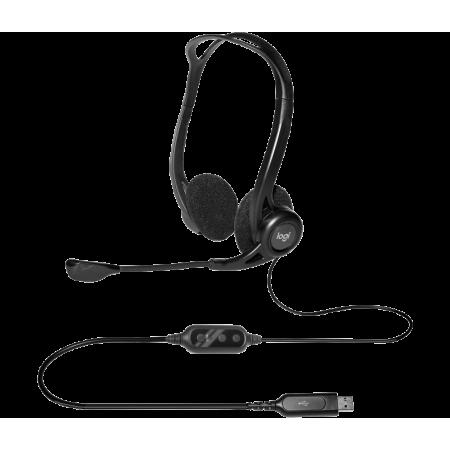 HEADPHONE MICRO LOGITECH 960 USB STEREO BLACK