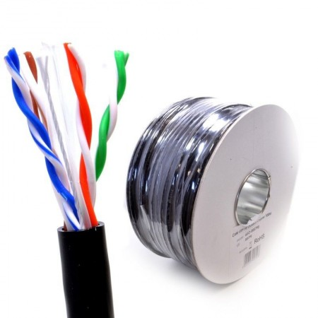 CABLE RESEAU NO NAME FTP CAT6 4P OUTDOOR GRANDE SECTION   305m