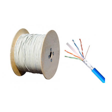 CABLE RESEAU GENERAL FTP CAT6  4P INDOOR /OUTDOOR  MOYENNE SECTION   500M