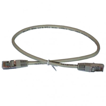 CORD PATCH RJ45 CAT6 F / UTP 0.5M GRAY