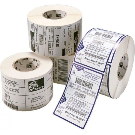 PAPIER ZEBRA 100mm x 150mm VERLIN MANDRIN : 76mm PACK*4