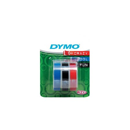 RUBAN DYMO LOT DE 3 RUBANS 9 mm ROUGE
