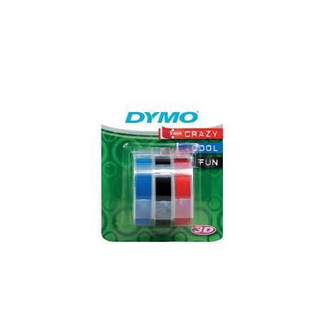 RUBAN DYMO LOT DE 3 RUBANS 9 mm ROUGE